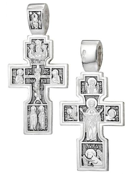 Серебряный нательный крестик