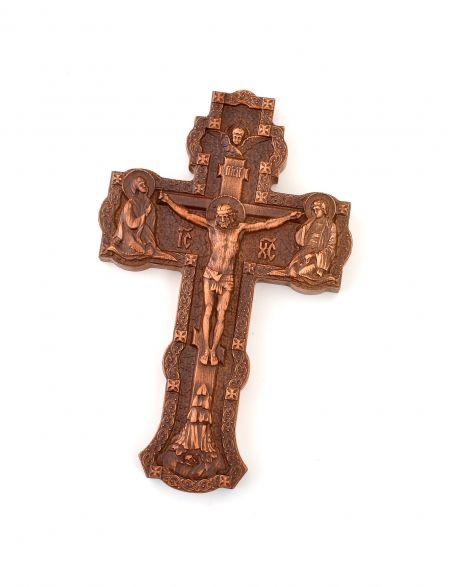 Крест малый резной «Распятие» из массива бука