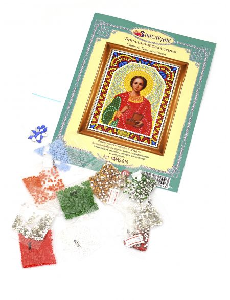 Алмазная мозаика «Святой Пантелеймон» икона