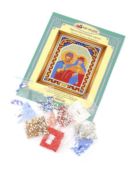 Алмазная мозаика «Святые Пётр и Феврония» икона