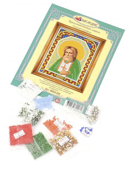 Алмазная мозаика «Святой Серафим» икона
