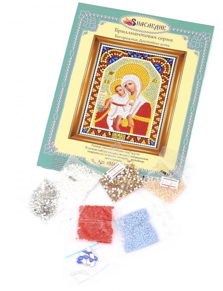 Алмазная мозаика «Божией Матери. Достойно есть» икона
