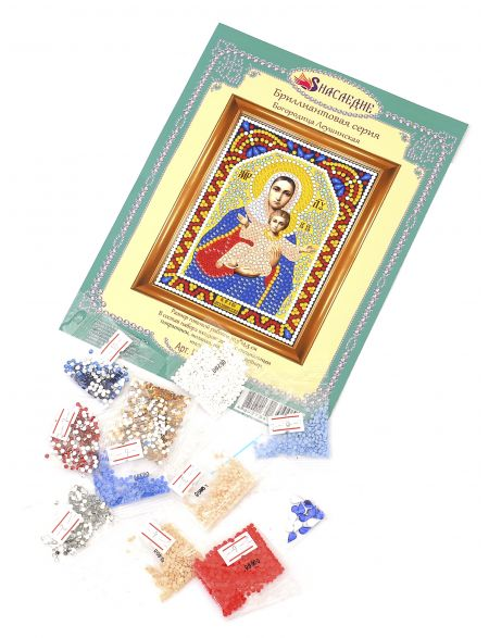 Алмазная мозаика «Богородица Леушинская» икона