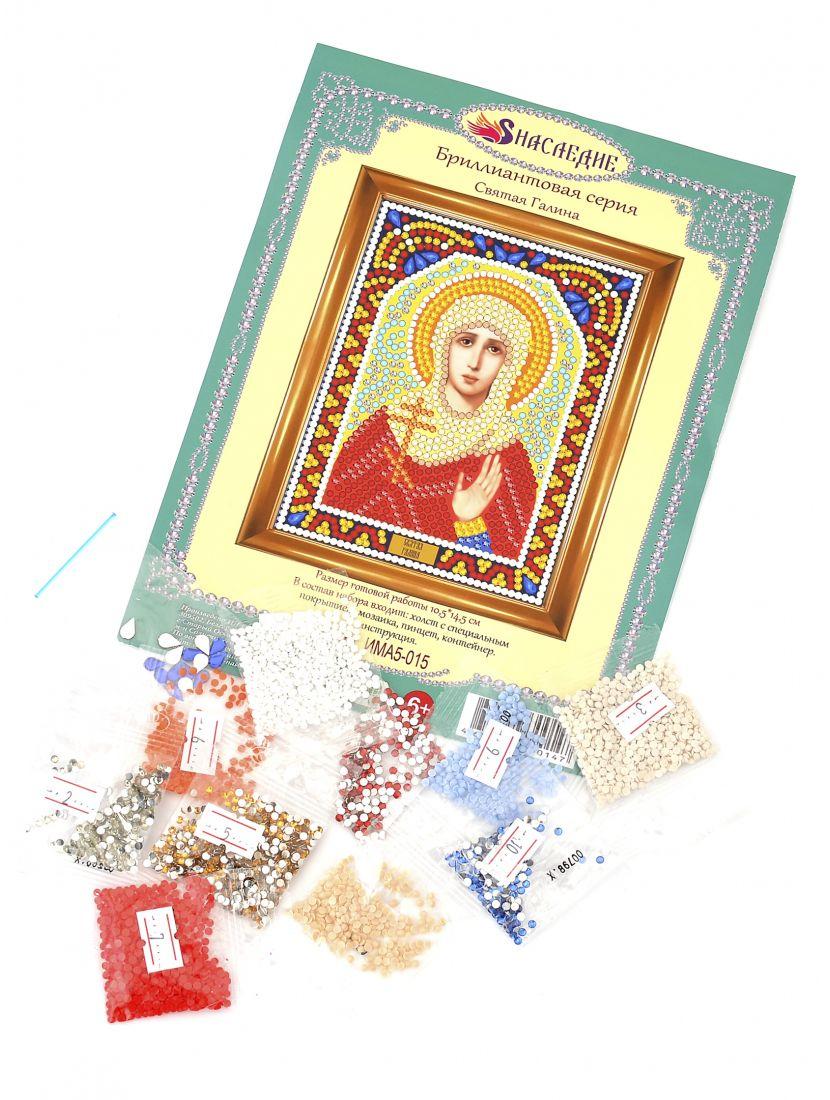 Алмазная мозаика «Святая Галина» икона