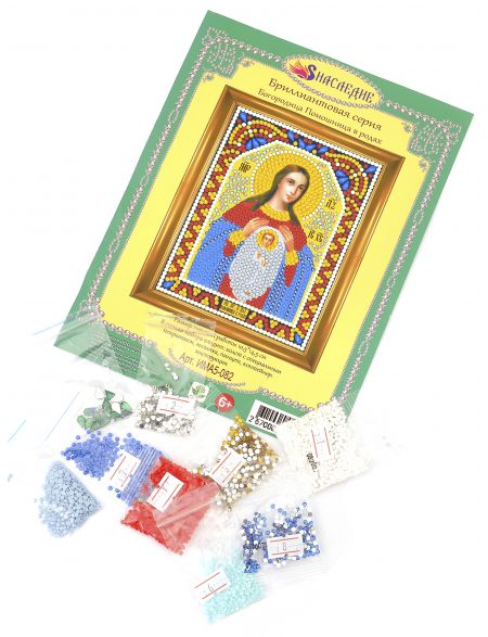 Алмазная мозаика «Божией Матери. Помощница в родах» икона