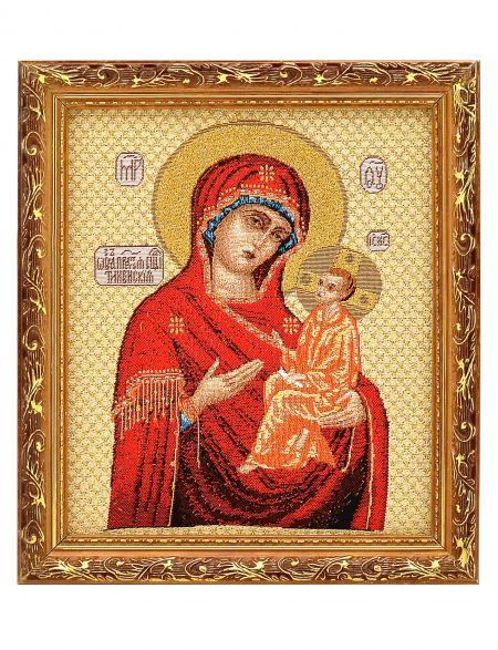 Икона гобелен «Божьей Матери. Тихвинская»