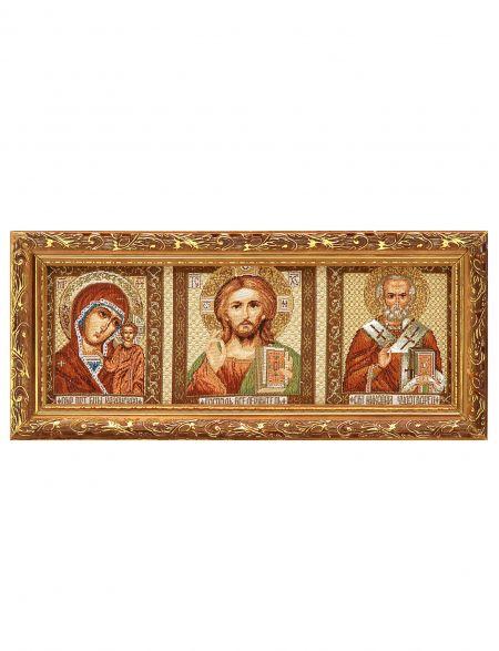 Икона гобелен «Триптих иконостас»