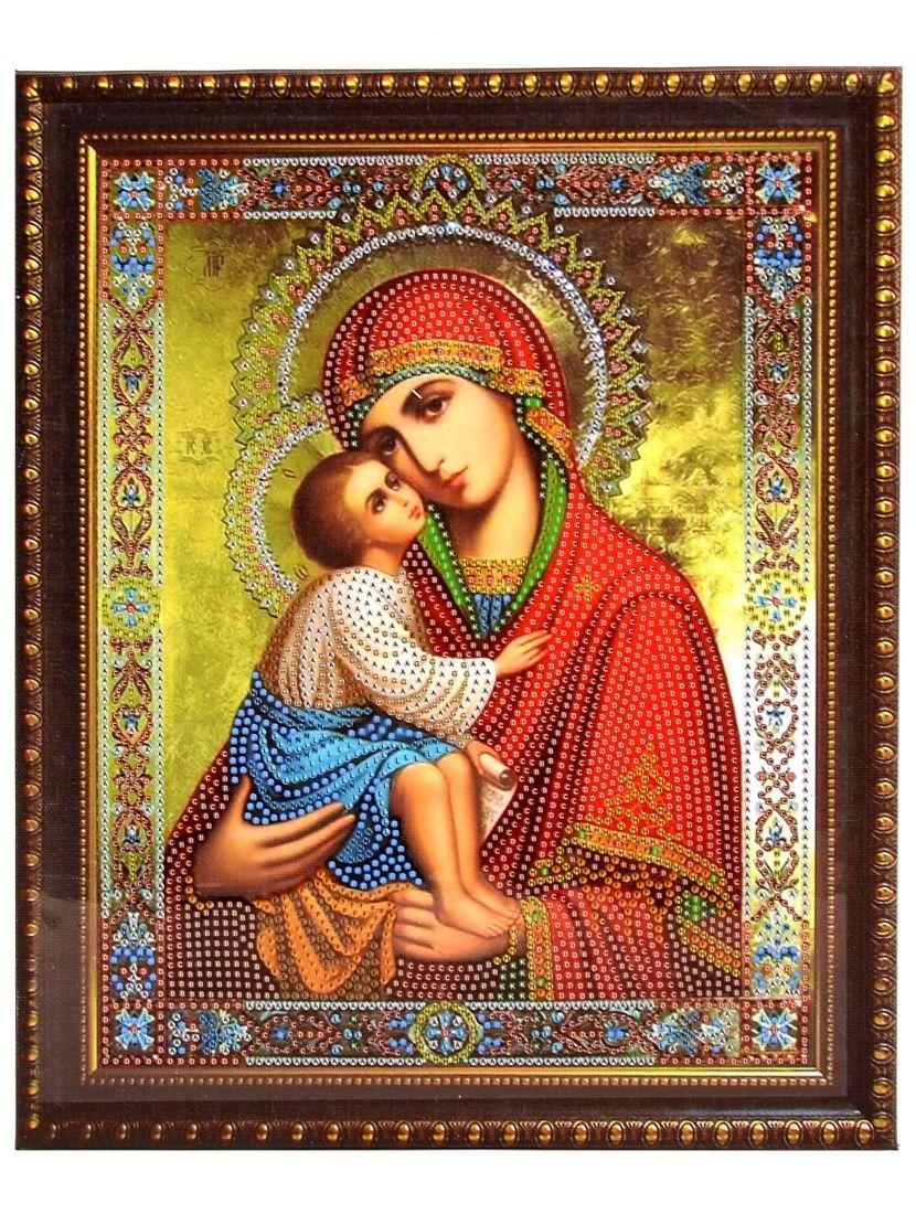 Алмазная мозаика на подрамнике «Божией Матери Елеуса» икона