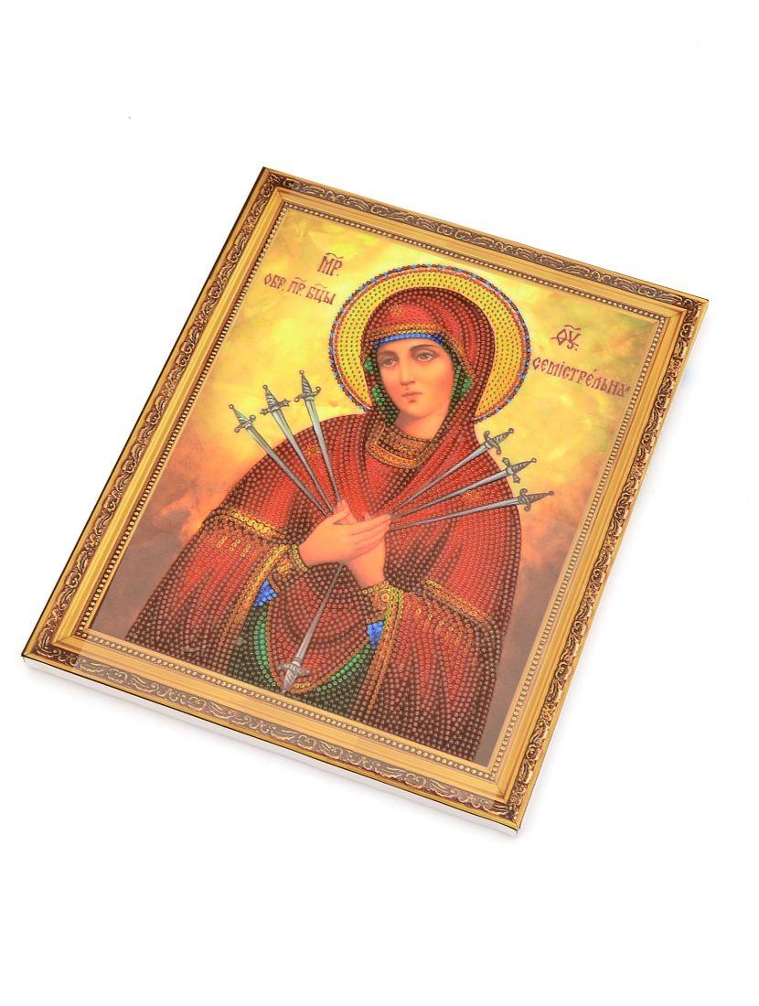 Алмазная мозаика на подрамнике «Божией Матери Умягчение злых сердец» икона