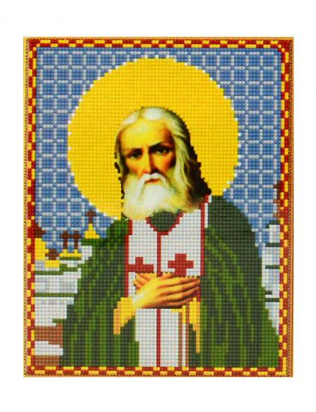 Алмазная мозаика «Святой Серафим Саровский» икона