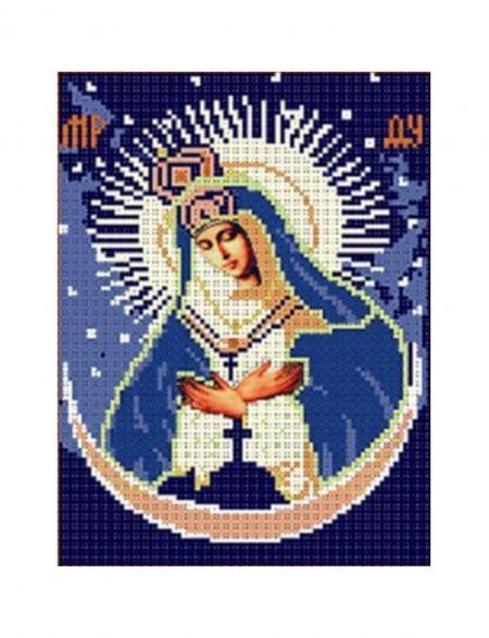 Алмазная мозаика «Божией матери Остробрамская» икона