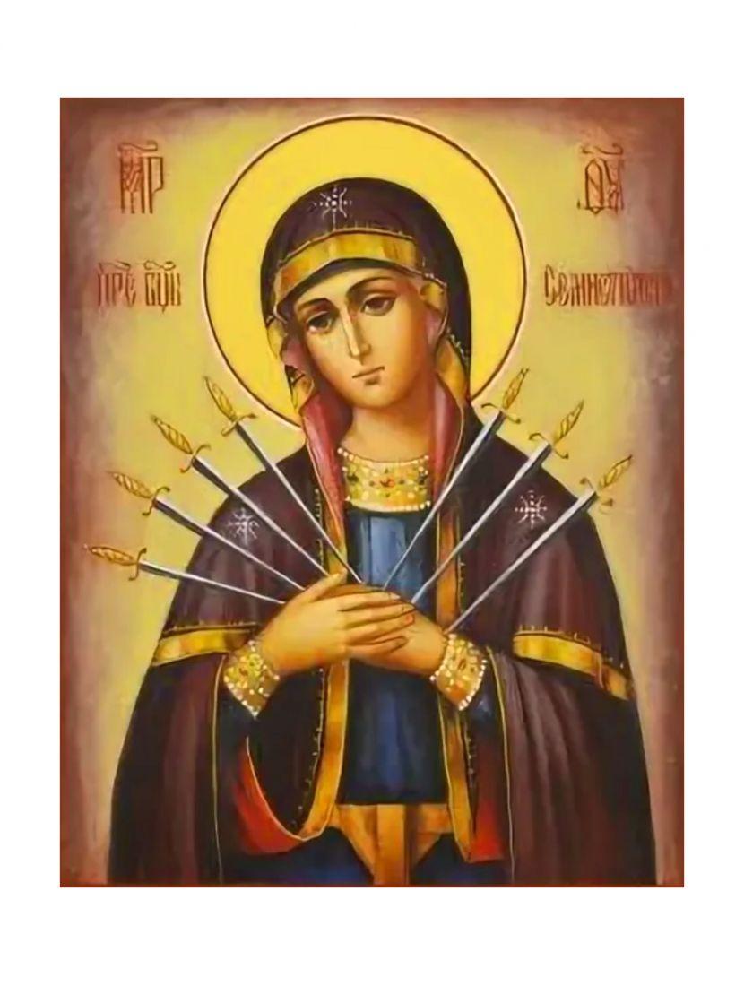 Алмазная мозаика «Божией матери Семистрельная» икона