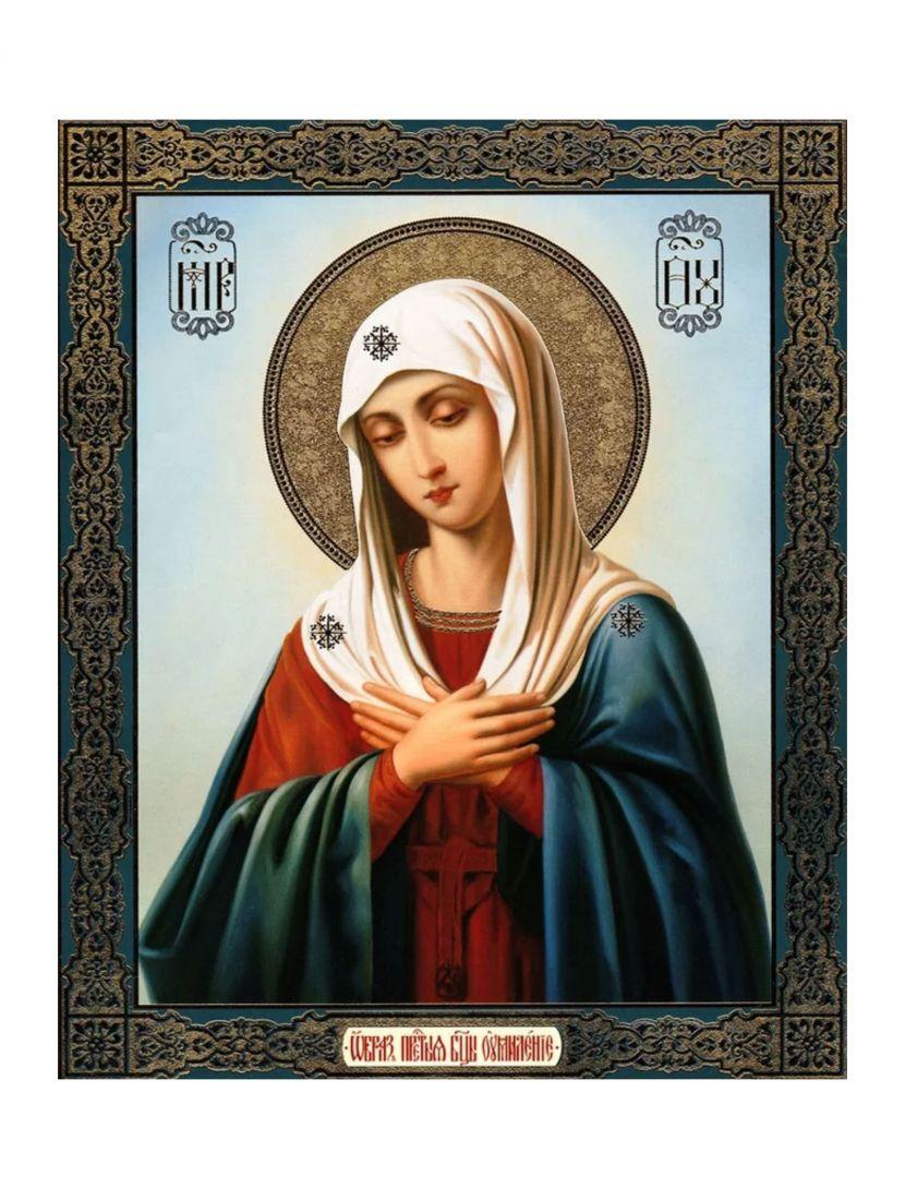 Алмазная мозаика «Божией матери Умиление» икона