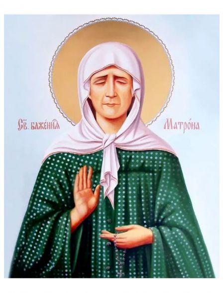 Алмазная мозаика на подрамнике «Святая Матрона» икона