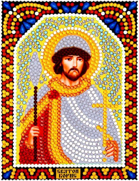 Алмазная мозаика «Святой Борис» икона