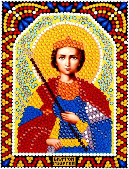 Алмазная мозаика «Святой Георгий Победоносец» икона