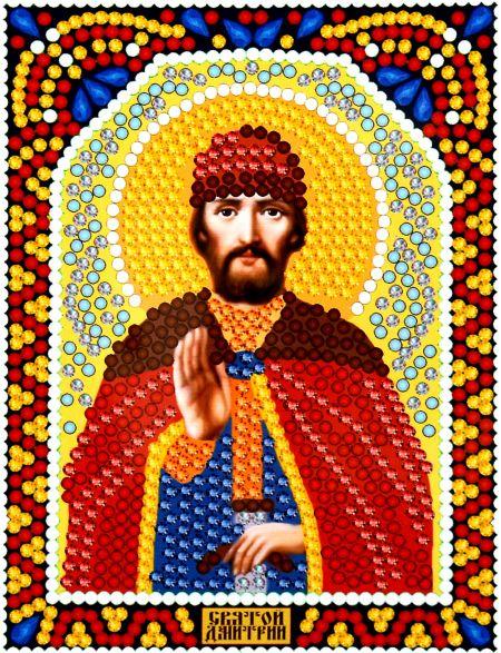 Алмазная мозаика «Святой Дмитрий» икона