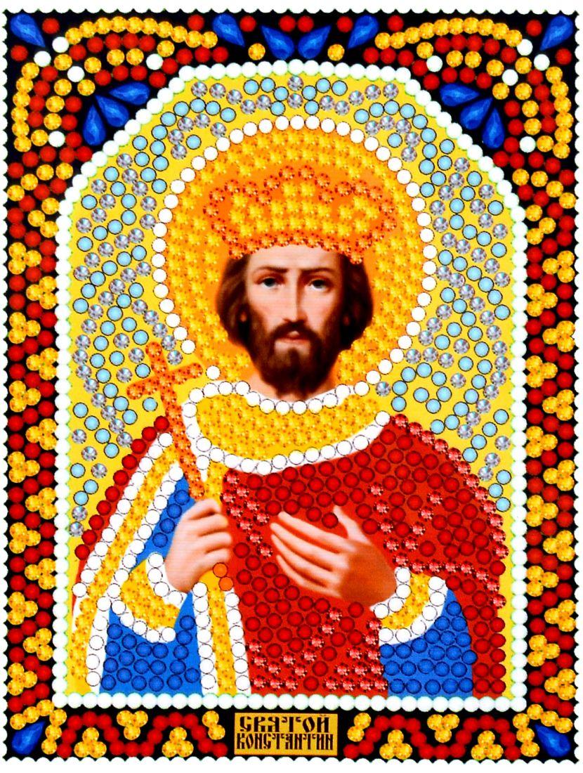 Алмазная мозаика «Святой Константин» икона
