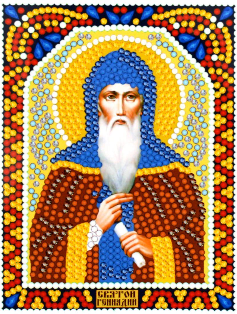 Алмазная мозаика «Святой Геннадий» икона