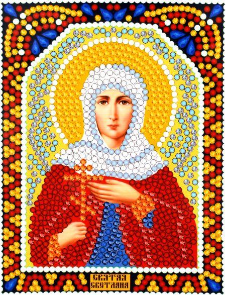 Алмазная мозаика «Святая Светлана» икона