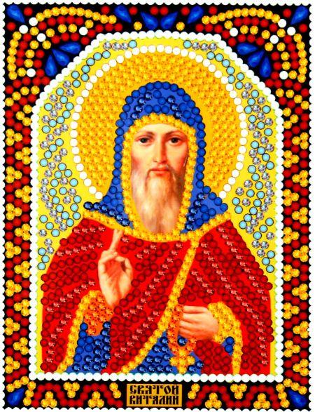Алмазная мозаика «Святой Виталий» икона