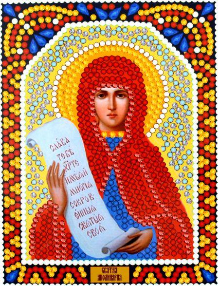 Алмазная мозаика «Святая Апполинария» икона