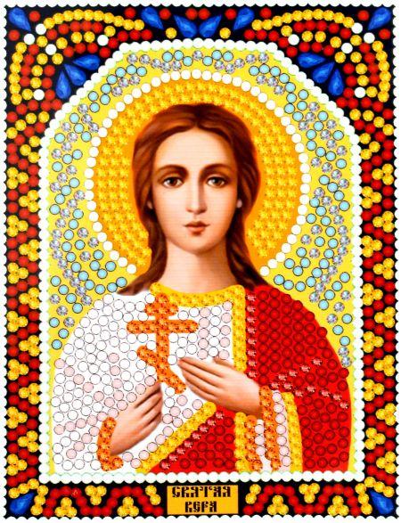 Алмазная мозаика «Святая Вера» икона