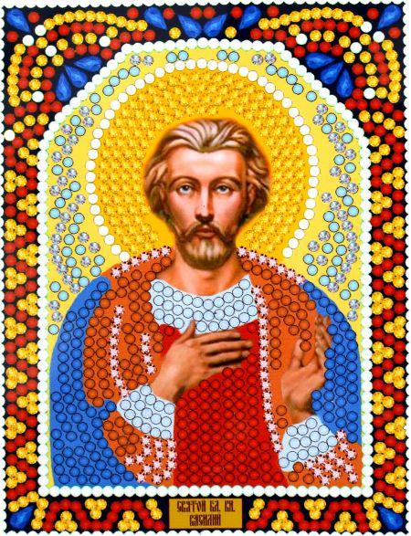 Алмазная мозаика «Святой Князь Василий» икона