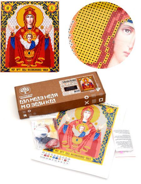 Алмазная мозаика «Божией Матери. Неупиваемая чаша» икона
